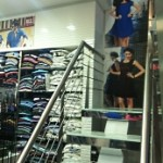 Inside the clothing store
