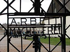 Entry gate to Dachau concentration camp
