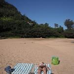 Jen on Tunnels Beach