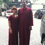 Bharat and Me in Maroon Robes