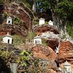 Shrines on the hillside