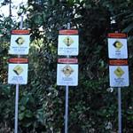 Warning signs at Ke'e Beach