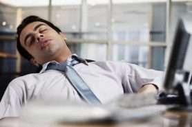 Businessman that needs better sleep